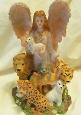 Angelic Angel with God's Loving Animals Youngs Figurines # Pg10119 Beautiful Art