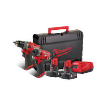 MILWAUKEE M12FPP2A-602X Fuel | Kit 12V Trapano Percussione + Avvitatore Impulsi
