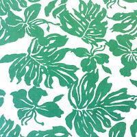 735 Green & White Tropical Palm Island Beach Seaside Outdoor Home Decor Fabric