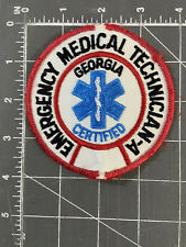 Vintage Georgia Certified Emergency Medical Technician - A Patch EMT EMS Service