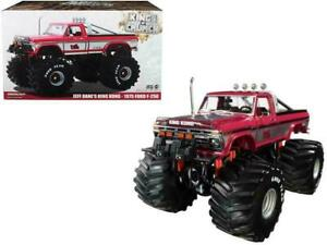 """1:18 1975 Ford F-250 Monster Truck w/66"""" Tyres -- King Kong -Kings of the Crunch"""