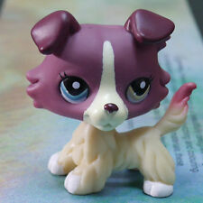 """LPS #1262 COLLECTION Figure PLUM YELLOW PUBBY DOG TOY 2"""" LITTLEST PET SHOP"""