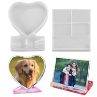 Crystal Epoxy Resin Mould Love Rectangular Photo Frame Reusable Silicone Mold