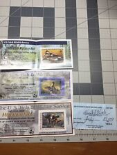 Lot 3 Federal Duck Stamps 1 Signed 1999-2000,2000-2001,2005- 2006