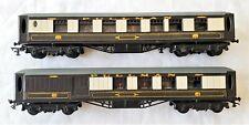Lot/2 Grahm Farish Pullman Dining Car Great Paint Model Railroad Passenger Train