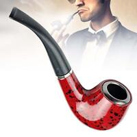 Wooden Enchase Smoking Durable Pipe Tobacco Cigarettes Cigar Pipes New Gift UP