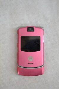 MOTOROLA PINK FLIP PHONE ##BRECL46