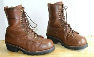 Chippewa Ventura Men's Logger Boots Waterproof Brown Leather. US Size 11 M