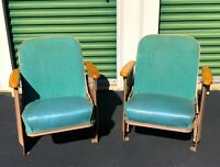 VTG THEATRE SEATS -Set Of Two - Art Deco Heywood Wakefield Styled - Gorgeous!!