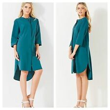 Closet @ Kaleidoscope Size 8 Petrol Blue Longline Shirt DRESS Party Evening £65
