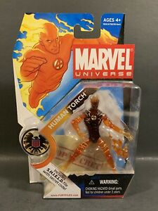 2008 MARVEL UNIVERSE FURY FILES HUMAN TORCH 3.75 FIGURE SERIES 1 WAVE 1