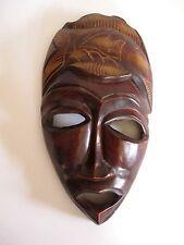 Ältere Holzmaske aus Afrika Troppenholz hand-geschnitzt 28 cm hoch