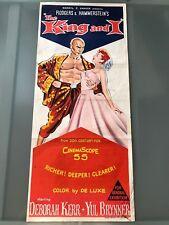 ORIGINAL DAYBILL POSTER 13x30: The King and I (1956) Deborah Kerr, Yul Brynner