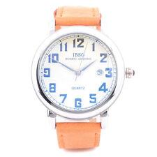 IBSO Men's Leather Analog Wrist Watch 3932 Cognac STRAP