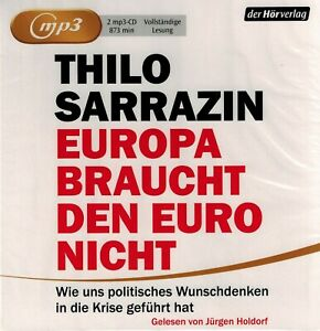 HÖRBUCH-MP3-DOPPEL-CD NEU/OVP - Europa braucht den Euro nicht - Thilo Sarrazin