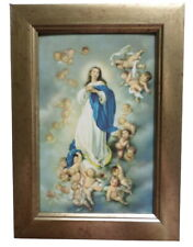 More details for beautiful framed immaculate conception virgin mary roman catholic icon