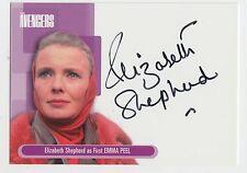 2003 Strictly Ink Avengers autograph card #A3 1st Emma Peel ~ Elizabeth Shepherd