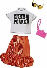 Barbie Girl Power White Shirt Red Metallic Skirt Fashion Pack COMPLETE LOOK
