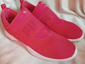 Puma Mens Dare Trainer 36369907 Pink Running Shoes Slip On Low Top Size 14