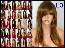 Brown Ombre Womens Natural Fashion Halloween Party Stage Full Ladies Wig L3