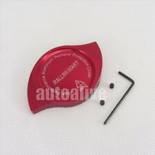 For Mitsubishi CNC Ralliart Anodized Billet Aluminum Red Radiator Cap Cover