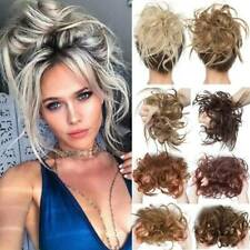 AU Curly Messy Bun Hair Piece Scrunchie Thick Hair Updo Extension Woman Wedding