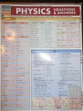 Barcharts Physics Equations & Answers Quick Study Guide