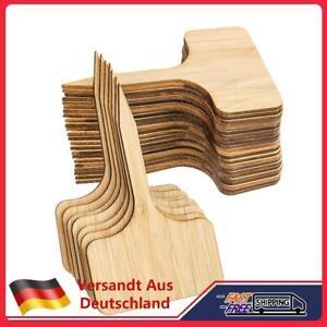 starnearby 50Stk Pflanzschilder Bambus, T-Form Pflanzenstecker Beschriften