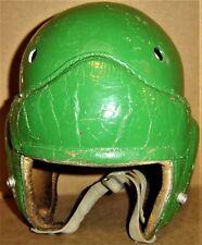 VINTAGE GREEN Leather Suspension FOOTBALL HELMET