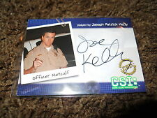 CSI Autograph Trading Card Very Limited Joseph Kelly as Officer Metcalf CSI-B8
