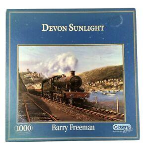 Devon Sunlight Jigsaw Puzzle 1000 Gibsons Steam Train River Dart Railway GWR