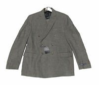 $1,895 Polo Ralph Lauren Mens Italy Double Breasted Slim Flannel Wool Suit New