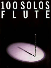(Good)-100 Solos: For Flute (Paperback)-Music Sales Corporation-0825610982