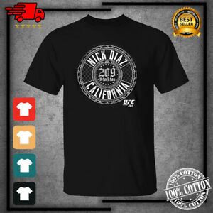 Men's 2021 UFC Nick Diaz 209 Cali Black Funny T-Shirt