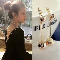Elegant Women's Bling Ball Earrings Long Chain Drop Dangle Earrings Jewelry New