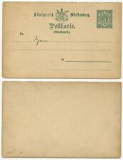 36290-Württemberg tutta causa P 35 a-risposta-cartolina-inutilizzato