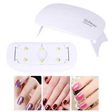 UV Lampe 6W LED Lichthärtungsgerät Nageltrockner Nagellampe mit USB und Timer