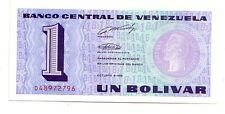 Venezuela 1 bolivar  1989  FDS UNC  Pick 68  Lotto 2956 prefix A and B