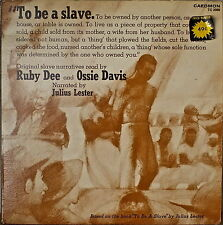 TO BE A SLAVE-SLAVE NARRATIVES READ BY RUBY DEE & OSSIE DAVIS-NM1972 2LP CAEDMON