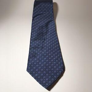 Lauren Ralph Lauren Silk Mens Necktie Blue Diamond