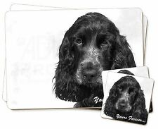 Blue Roan Cocker 'Yours Forever' Twin 2x Placemats+2x Coasters Set i, AD-SC25YPC