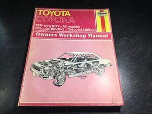 1974-1977 Toyota Corona Repair Manual 20-R Hardtop Coupe RT114 RT115 RT104 RT105