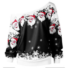 XMAS Tops Women's Ugly Sweater Jumper Christmas Hoodie Pullover Shirt Blouse US