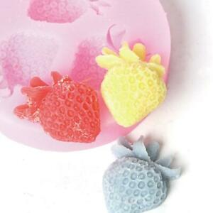Silicone Triple Strawberry Molds Craft DIY Soap Cake Tart Candle Chocolate Mold