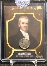2020 THE BAR PIECES OF THE PAST JOHN MARSHALL CHIEF JUSTICE 1953 DIME RELIC 1/1