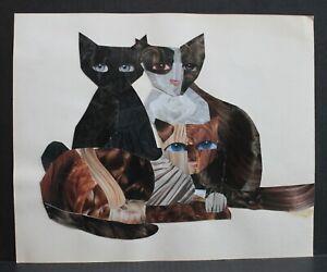 KATHE TANOUS CAT COLLAGE