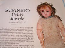 7pg Steiner Doll History Magazine Article PETITE JEWELS / D. McGonagle