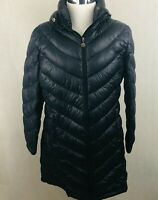 Calvin Klein Puffer Coat XLarge Womens Black Quilted Down Lightweight Packable