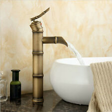Bamboo Shape Euro Modern Brass Bathroom Vessel Vanity Sink Lavatory Faucet Tall