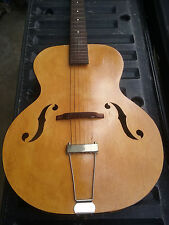 1940 Harmony Vintage Archtop Acoustic Guitar birdseye maple GORGEOUS blonde